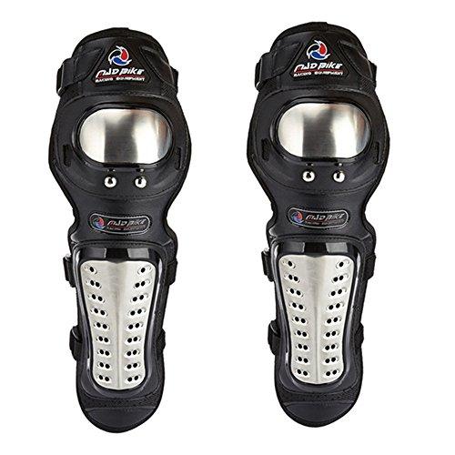 ILM Adults Alloy Steel Motorcycle ATV Motocross Elbow Knee Shin Guard Pads 4Pcs  2Pcs Kit 2Pcs Kit