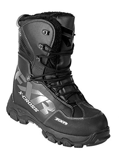 FXR X-CROSS Lace-up Snowmobile Boots Black OPS-Mens 10EU43Womens 12