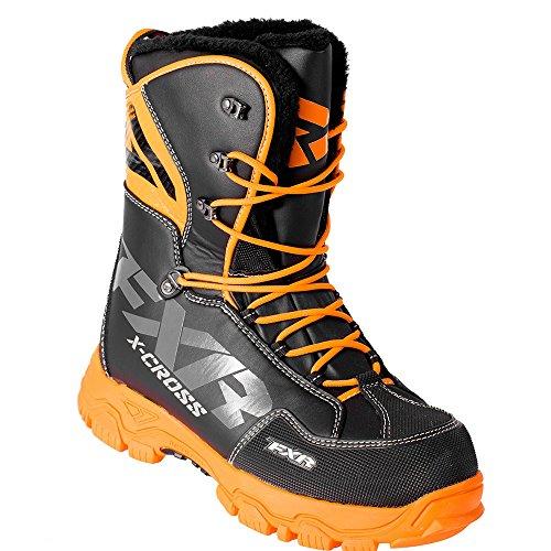 FXR X-CROSS Lace-up Snowmobile Boots Black OPS-Mens 11EU45