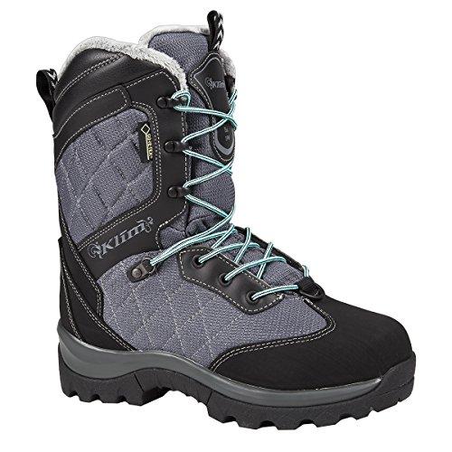 Klim Aurora GTX Womens Snowmobile Boots - Size 8  Gray-Black