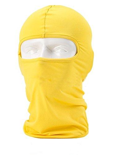 Lycra Fabrics Ski Face Mask Motorcycle Cycling Bike Bandana Hiking Skateboard Balaclava (yellow)
