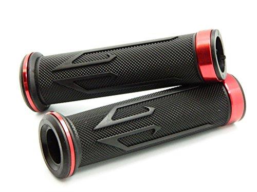 ALUMINUM MOTORCYCLE 78 22MM HANDLEBAR GEL RUBBER HAND GRIPS RED FOR 2008 Honda CBR600RR