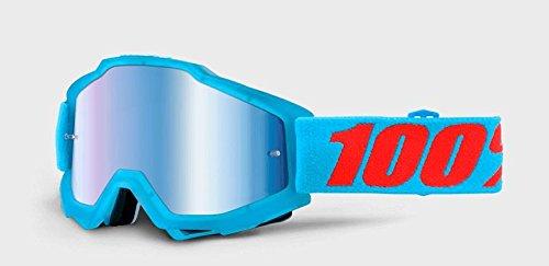 100  Accuri Youth Goggle Acidulous Cyan with Mirror Blue Lens