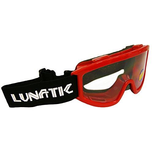 Lunatic L100YR YOUTH Goggles - Red - Dirtbike ATV MX - Single Lens - Adjustable Strap
