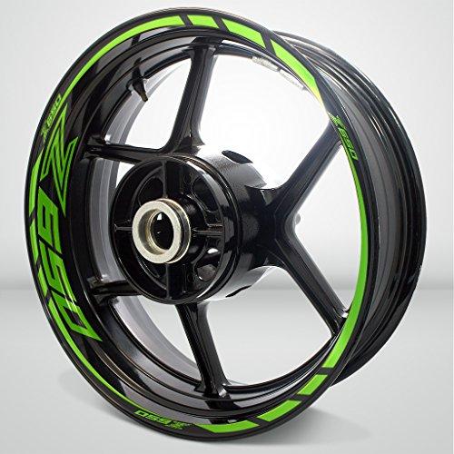 Kawasaki Z650 Gloss Light Green Motorcycle Rim Wheel Decal Accessory Sticker