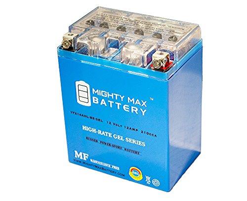 YTX14AHL Gel 12V 12Ah Battery for Kawasaki 600 KL600-B KLR 1985-1986 - Mighty Max Battery brand product