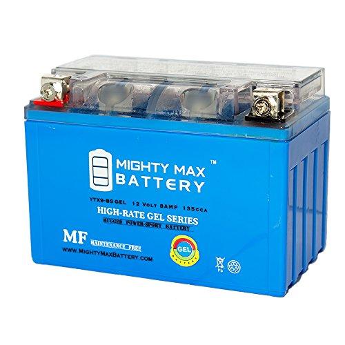 YTX9-BS GEL Battery for Kawasaki 600 ZX600-FA Ninja ZX-6R '2008-'2013 - Mighty Max Battery brand product