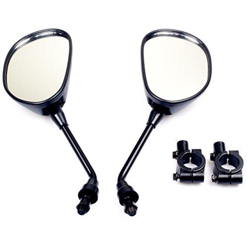 UMPARTS MM3 Rearview Mirror with 78 Handlebar Mount for Motocycle Scooter Moped Polaris Sportsman Honda ATV Dirt Bike Cruiser Chopper