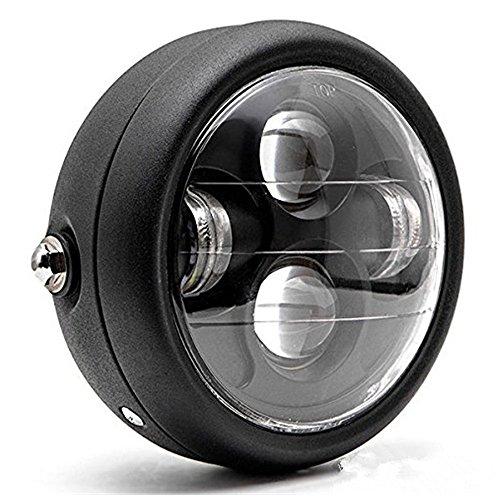 TASWK Motorcycle Black 65 Headlight Projector Head Lamp HiLo Beam Bobber Chopper