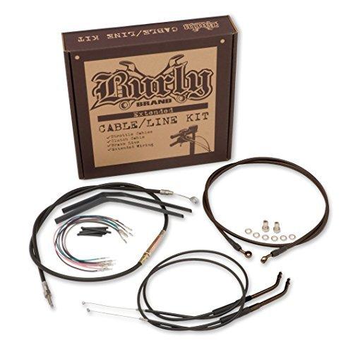 Progressive Suspension Cable and Brake Line Kit for 12in Ape Hangers - Black B30-1033