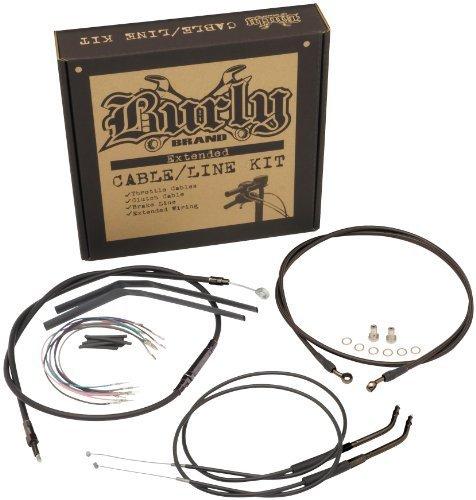 Progressive Suspension Cable and Brake Line Kit for 12in Ape Hangers - Black B30-1067