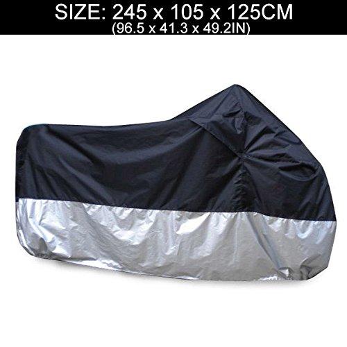 Ambienceo Motorcycle Motorbike Waterproof Anti-UV Rain Dirt Dust Cover for Honda Kawasaki Suzuki with Carry Bag