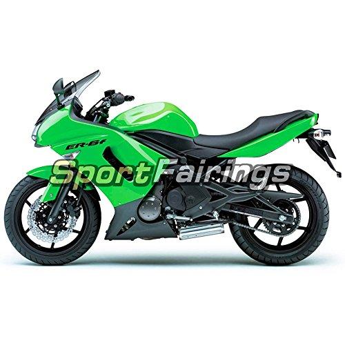 Sportfairings Green Black Plastic ABS Fairing kits For Kawasaki Ninja 650R ER-6F Year 2006 2007 2008 Full Motorbike Covers Cowling