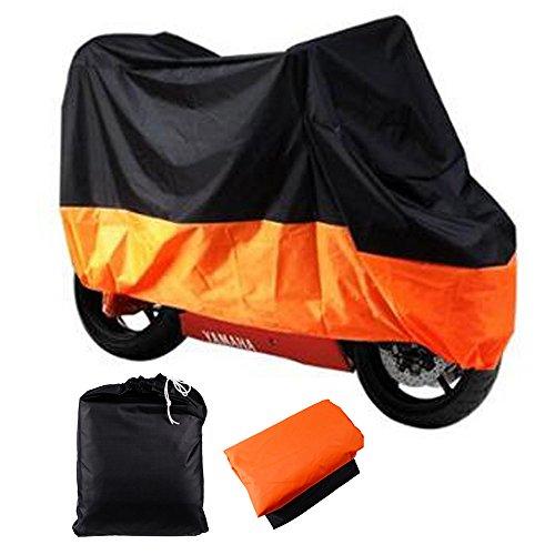 XXXL 116 Motorcycle Motorbike Cover Waterproof UV Protective Breathablew Storage Bag - Black Orange