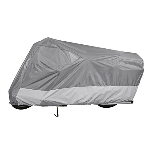 Guardian By Dowco - WeatherAll IndoorOutdoor Motorcycle Cover - 5 Year Limited Warranty - Waterproof - UV Protection - Heat Safe - Moisture Guard Vent - Gray - Large  50003-03