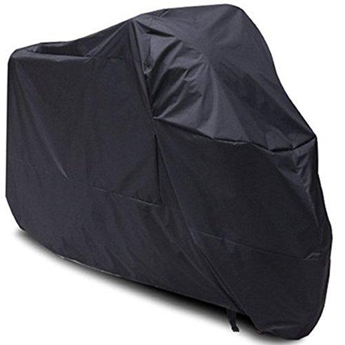 Sanku Universal Black Motorcycle Cover Outdoor Storage Bag Al SeasLon Waterproof Sun Railn Windts for 96 Harley davisonYAMHASuzukiKawasakiHondaDucati XL