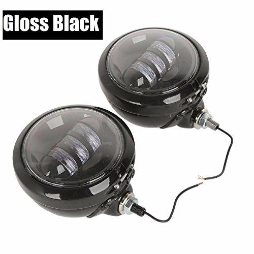 2pcs 45 LED Auxiliary Daymaker harley Fog light street glide Passing Light Housing Bucket For Harley