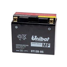 Unibat Maintenance-Free Battery with Acid CT12B-BS for Ducati 796 Hypermotard HM796 2011-2012
