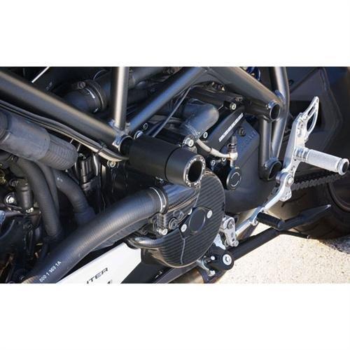 Sato Racing Abrasion Resistant Delrin Frame Sliders for Ducati Streetfighter D-STFS-BK