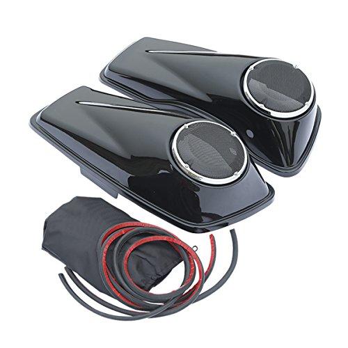 XFMT 6 12 Speaker Saddlebag Lid For Harley Davidson Touring FLHR FLHT 2014-2018