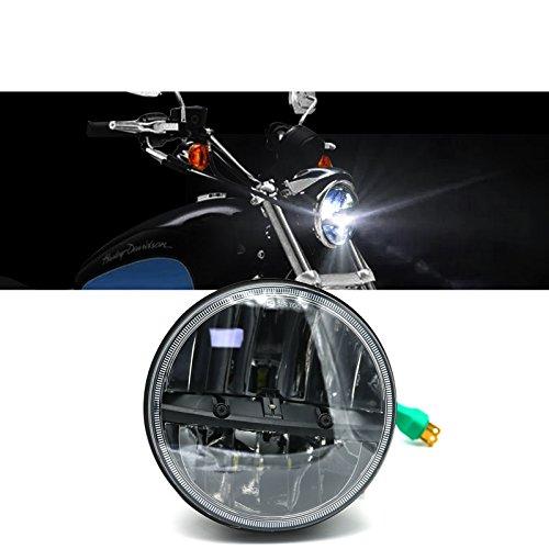 7 Inch Black Harley Cree Bulb Headlight Driving Light 1 Pcs HighLow Beam for Harley Davidson Daymaker Projector Road Glide Hummer H1
