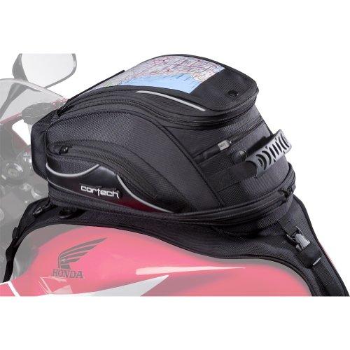 Cortech Super 20 18-Liter Motorcycle Tank Bag - Black  Strap Mount - One Size