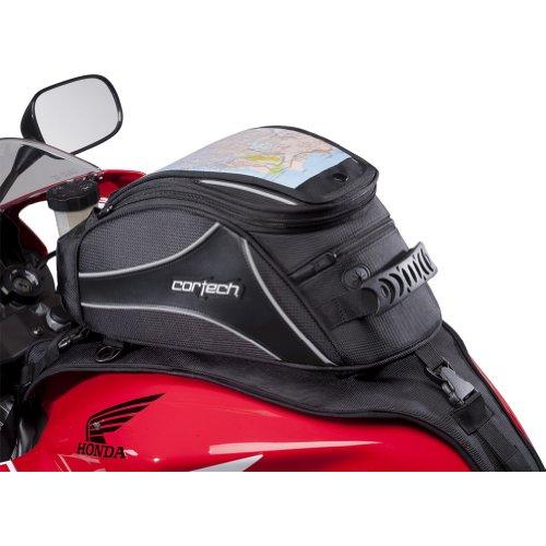 Cortech Super 20 Stap 12-Liter Motorcycle Tank Bag - Black  One Size