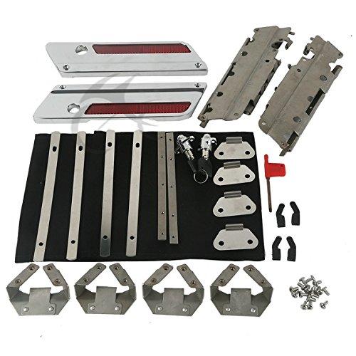 Tengchang Hard Saddle Bags Hardware Latch Lock Hinges Kit For Harley Touring Models 93-10 2011 2012 2013