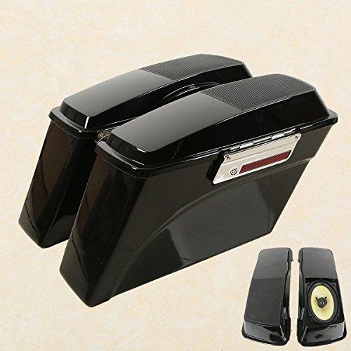 Xfmt Hard Saddlebags + Speakers Latch Key For Harley Touring Flhr Flht Flhx Cvo Ultra