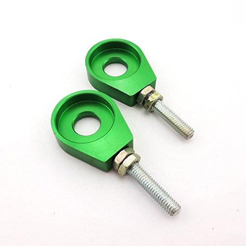 TC-Motor Green 12mm Chain Adjuster Tensioner Alex Block For Motorcycle Pit Dirt Bike Lifan Stomp Pitsterpro TTR SSR Thumpstar