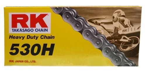 RK Racing Chain M530HD-110 530 Series 110-Links Standard Non O-Ring Chain with Connecting Link