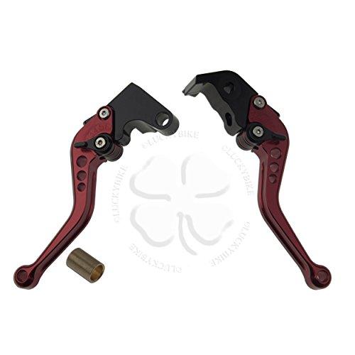 Shorty Hand Levers- Shorty Levers- - CNC - Yamaha - Brake Clutch Set - 04-08 R1 05-14 R6 06 R6CA 06-07 R6SEU - Red