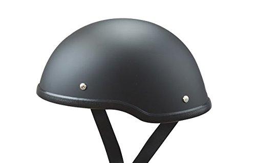 "Low Profile Novelty Harley Chopper Motorcycle Half Helmet Skull Cap Flat Matte Black (medium 22 1/4"" - 22 3/4"")"