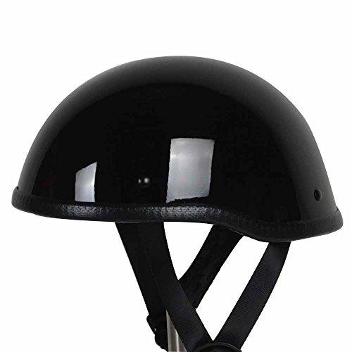 Rival N12 Skull Cap Novelty Non Dot Motorcycle Low Profile Half Helmet Beanie Harley Chopper Cruiser Biker Airsoft