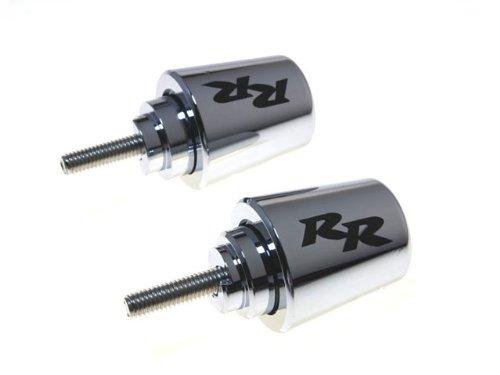 Honda CBR600 CBR600RR CBR900RR CBR929RR CBR954RR CBR1000RR Black BAR ENDS Chrome
