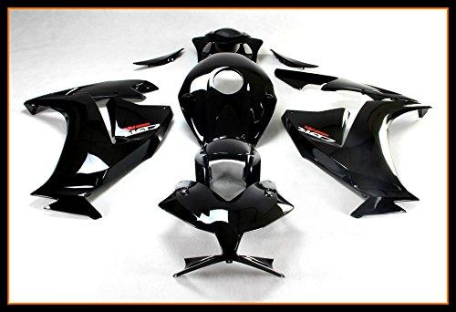 Protek ABS Plastic Injection Mold Full Fairings Set Bodywork With Heat Shield Windscreen for 2012 2013 2014 2015 2016 Honda CBR1000RR Black