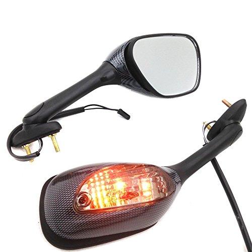 Motorcycle Turn Signal Mirrors For Suzuki Gsx-R Gsxr 600 750 1000 K6 K7 2006-2011 Carbon S