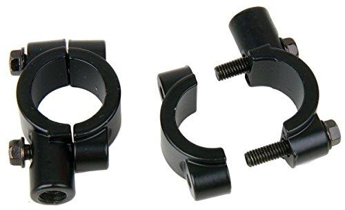 Black Motorcycle 78 22mm handle bar Clamp with 10mm clockwise thread Mirror Mount for 1996 Yamaha Virago 750 XV750