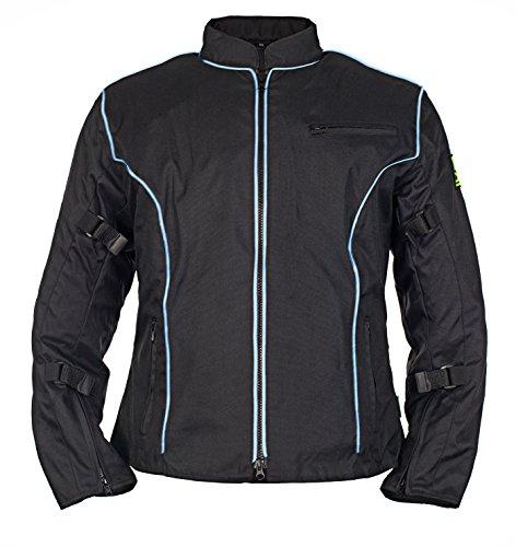 Armor Motorcycle Racing Kevlar Waterproof Jacket (large, Blue Piping)