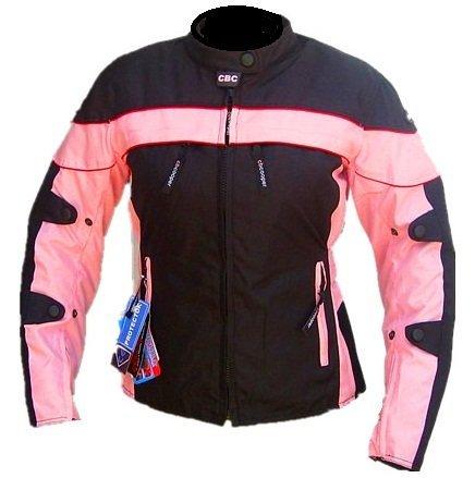 Cbcooper Womens Black Pink Motorcycle Racing Waterproof Cordura Removable Armor Jackets S-2xl (xl)