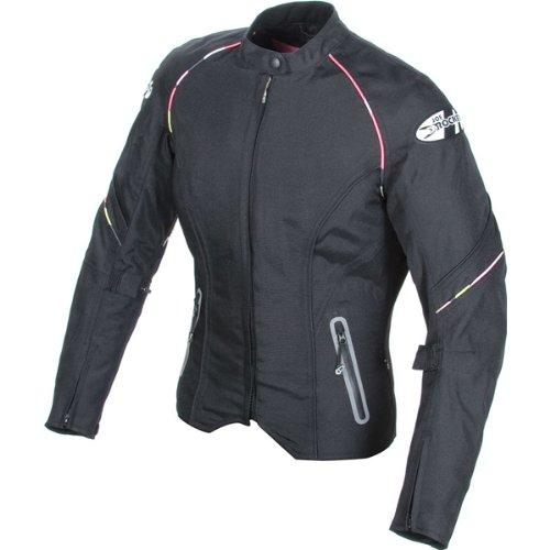 Joe Rocket Luna 2.0 Women's Textile Sports Bike Racing Motorcycle Jacket - Black/black / Large