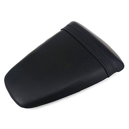 JFG RACING Black Back Motorcycle Seat Soft Comfortable Leather Rear Pad Cusion Seat Passenger Pillion For KAWASAKI ZX10R 2011-2014