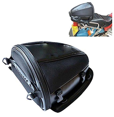 Motorcycle Rear Seat Bag Multifunction Saddle Bag Universal Moto Tank Bag Racing Oil Tank PU Leather Storage Tail Bags