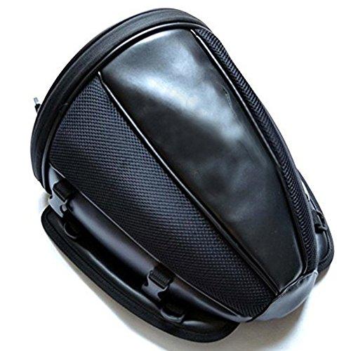 Qiyun Fashion Waterproof Motorcycle Rear Seat Bag Luggage Tail Bags Helmet Saddlebag