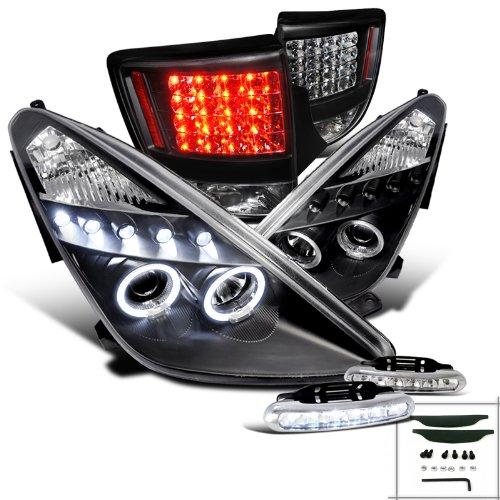 Celica Halo Projector HeadlightsBlack Led Tail Brake LampsDrl Fog Light