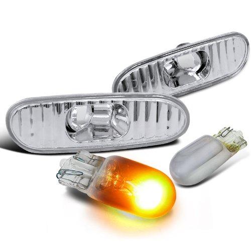 Toyota Celica MR2 Spyder Clear Side Marker LightsT10 Chrome Amber Bulbs