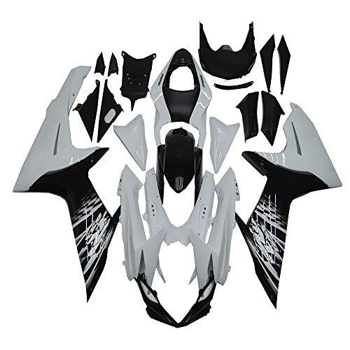 Black White Plastic Bodywork ABS Injection Mold Fairing Fit for Suzuki GSXR 600 750 k11 2011 2012 2013 2014 2015