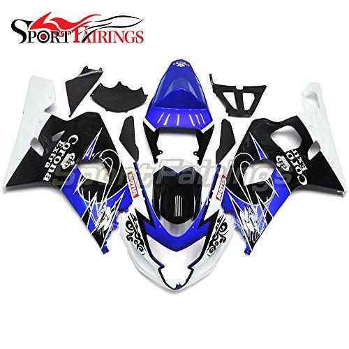 Sportfairings Complete Motorcycle Fairing Kit For Suzuki GSX-R750 GSX-R600 2004 2005 K4 GSXR600-750 Bodywork Blue Black Cowling