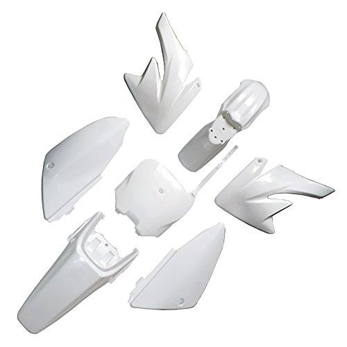 FLYPIG Fenders Plastic Body Fairing Kit for Honda CRF70 CRF 70 Dirt Pit Bike - White
