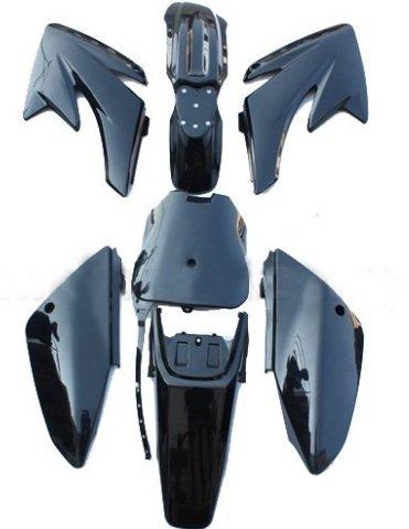 GSM Black Plastic Body Fairing Fender Kit Bodywork Set for Apollo 007 Pit Bikes Dirt Bikes